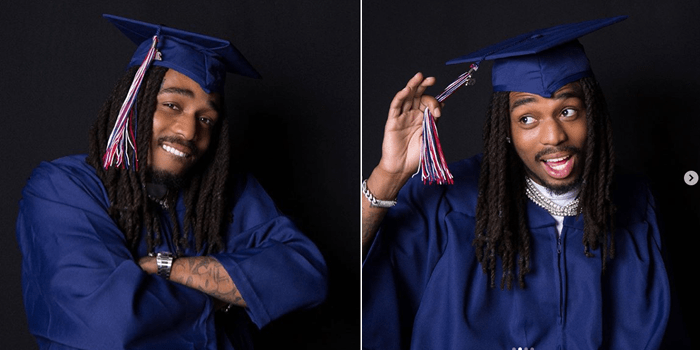 PHOTO: Migos Rapper, Quavo finally graduates from high school years after dropping out to pursue music career