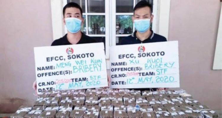 Court grants bail to 2 Chinese accused of offering N100m bribe to EFCC officials
