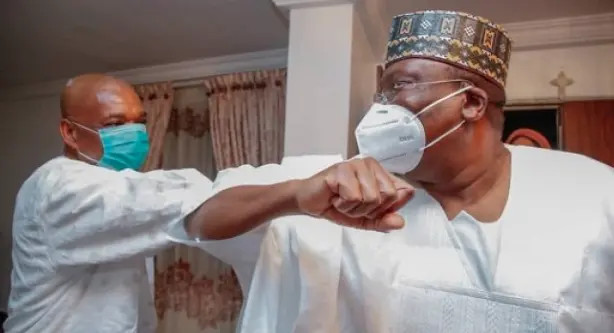 BREAKING: Lawan welcomes Senator Kalu into the senate days after being released from prison