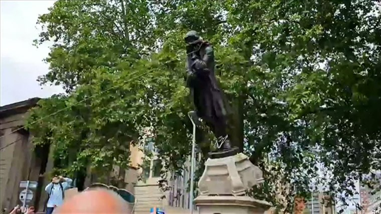 George Floyd topples statues of racists, slave traders in US, Europe