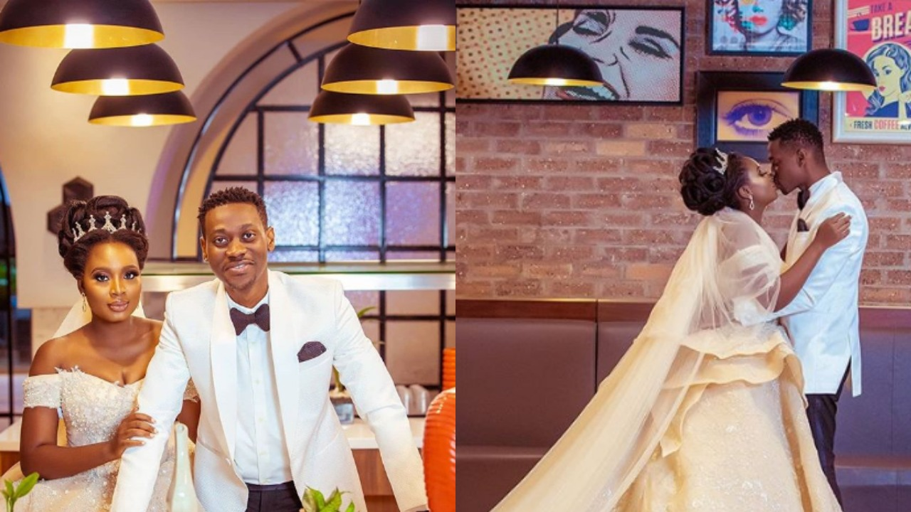Nollywood celebrities, Lateef Adedimeji and Adebimpe Oyebade shocks many with their wedding photos