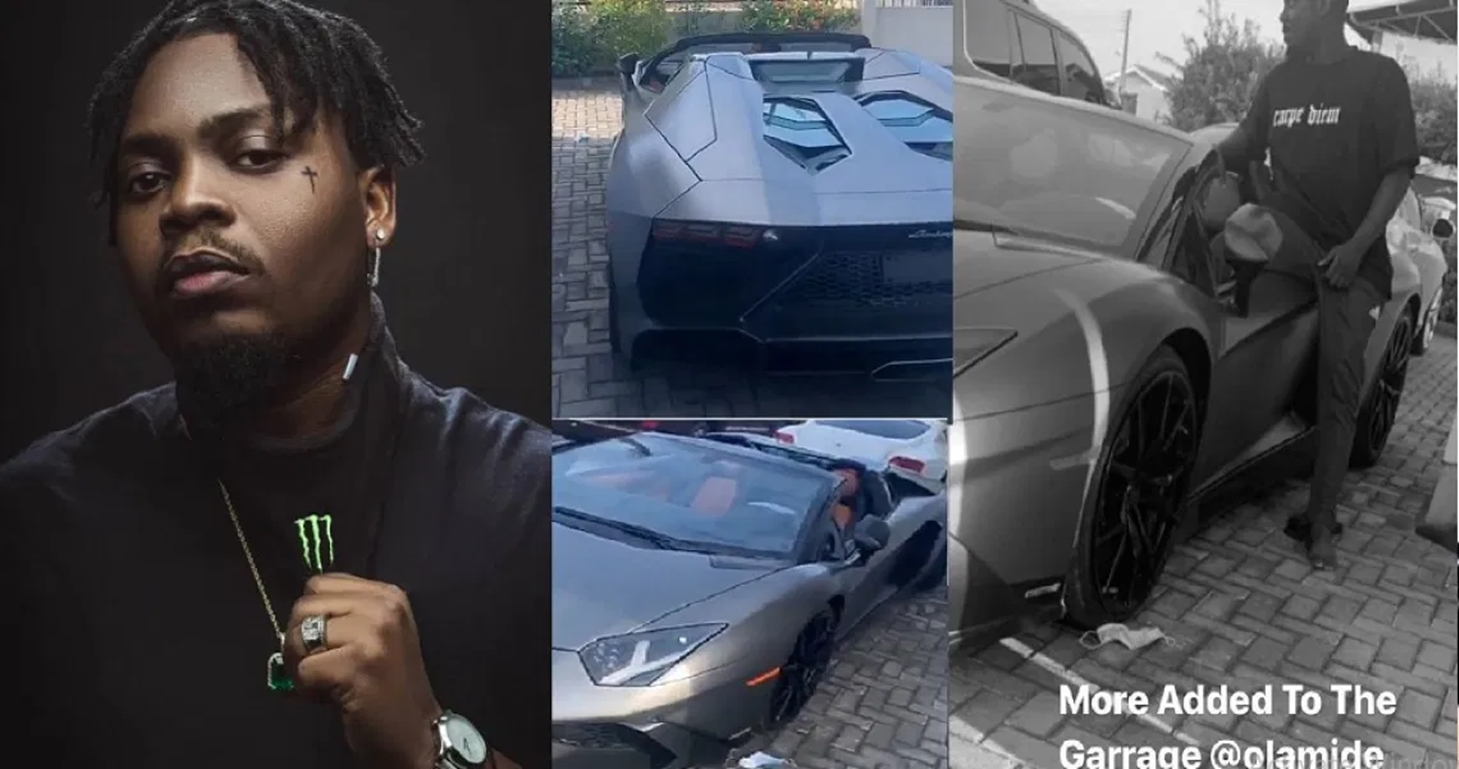 Olamide Reportedly Buys Lamborghini Aventador Worth N218 Million