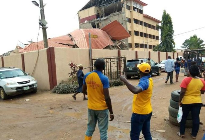 PHOTOS: Tragedy as school building collapses in Lagos
