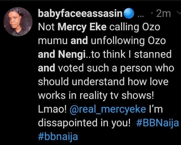 How Mercy Eke was dragged by her edges for unfollowing BBNaija's Nengi