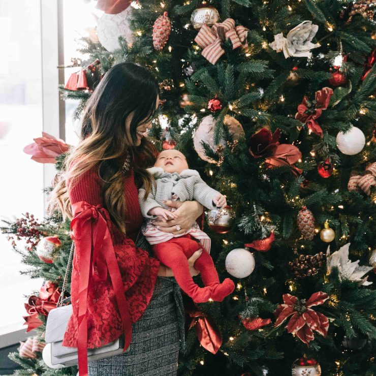 Lucy's first holidays and things I learned as a new mom