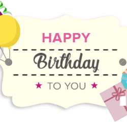 birthday gift card image