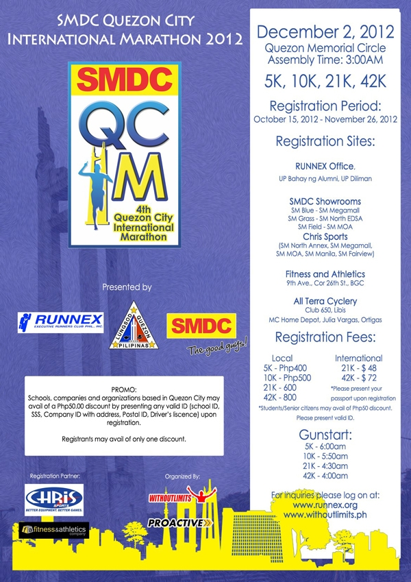 SMDC - Quezon City International Marathon 2012
