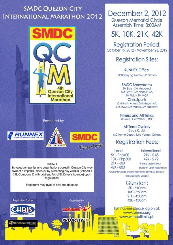 SMDC - Quezon City International Marathon 2012