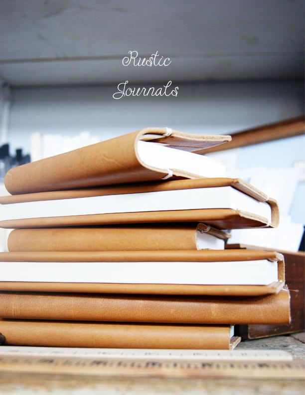 rustic journals