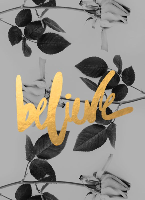 believe - yellow and gold