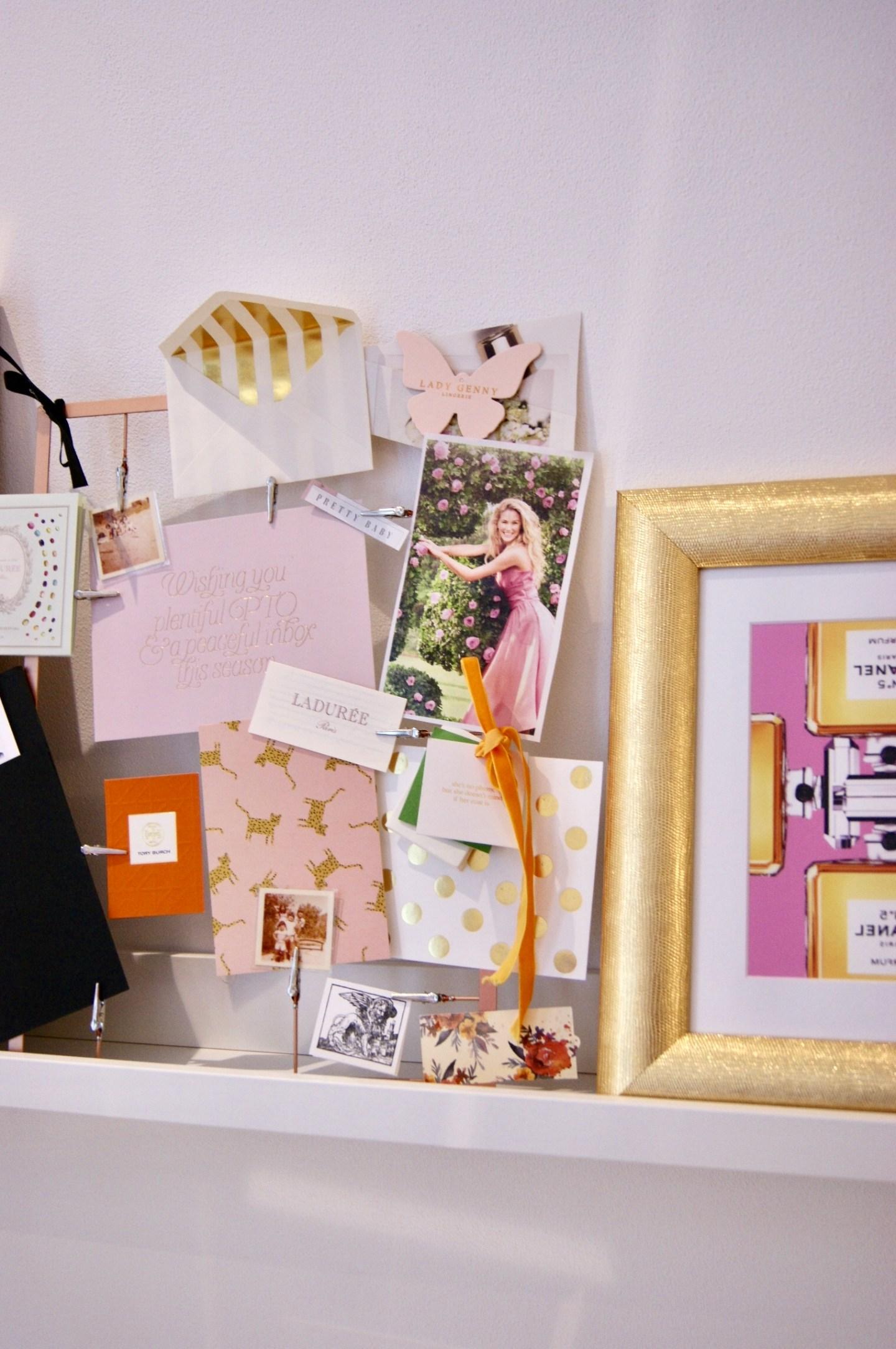 Creating an inspiration board DIY