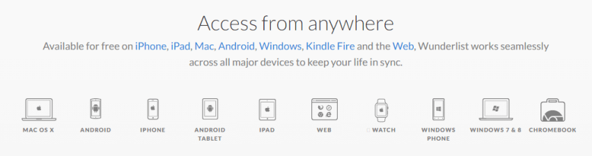 يُمكنك الوصول إلى التطبيق من جميع الأجهزة