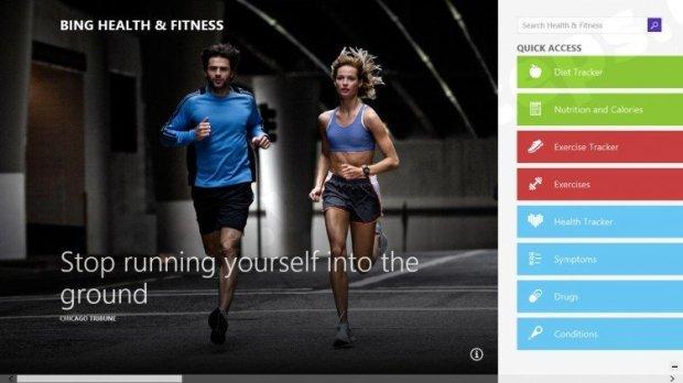 bing fitness app