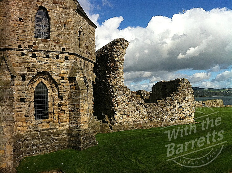 Inchcolm Abbey ruins and clouds