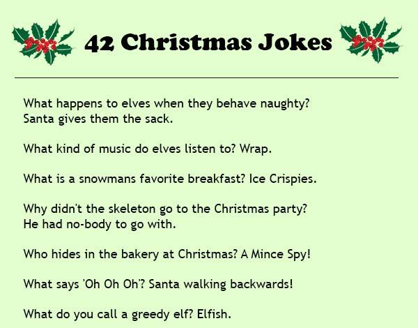 Christmas Joke Fun Thefunnyplace