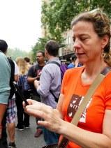 WITNESS executive director Yvette Alberdingk-Thijm tests out InformaCam.