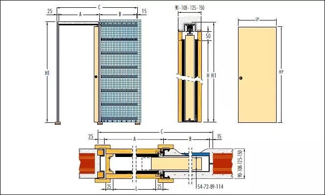 Porte scorrevoli interno o esterno muro - witsoffer.com