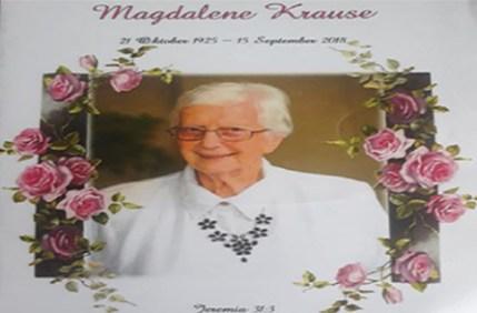Magdalene Krause