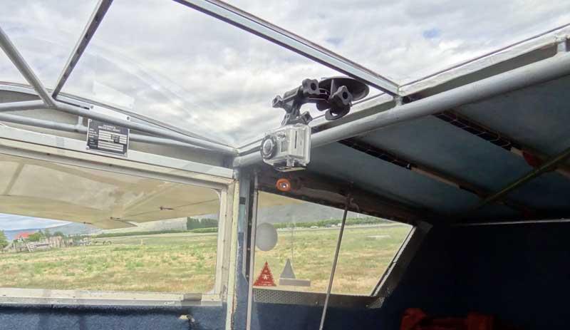 GoPro on the skylight