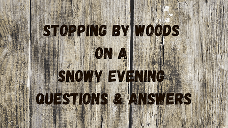 Stopping by Woods on a Snowy Evening Questions & Answers