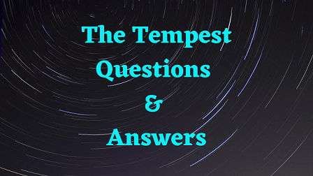 The Tempest Questions & Answers