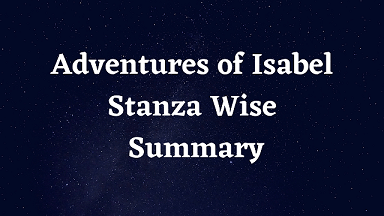 Adventures of Isabel Stanza Wise Summary