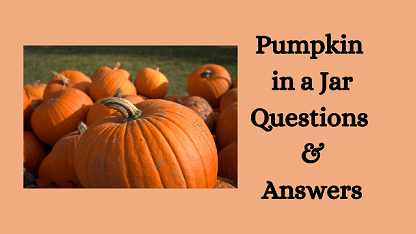 Pumpkin in a Jar Questions & Answers
