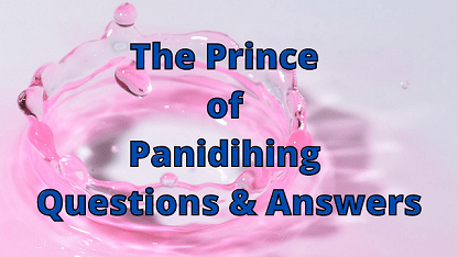 The Prince of Panidihing Questions & Answers