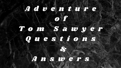 Adventure of Tom Sawyer Questions & Answers