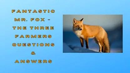 Fantastic Mr. Fox - The Three Farmers Questions & Answers