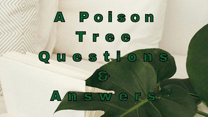 A Poison Tree Questions & Answers