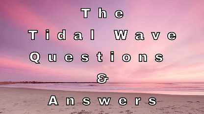 The Tidal Wave Questions & Answers