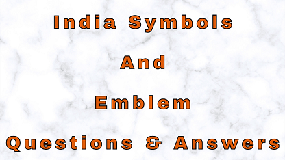 India Symbols And Emblem Questions & Answers