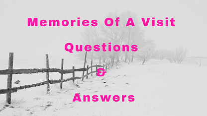 Memories Of A Visit Questions & Answers