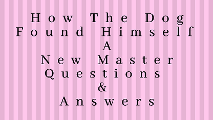 How The Dog Found Himself A New Master Questions & Answers