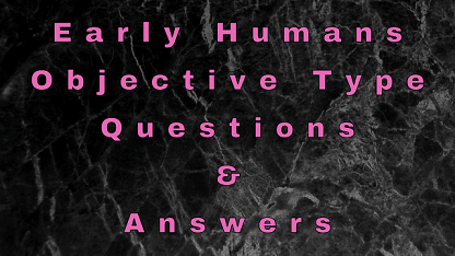 Early Humans Objective Type Questions & Answers