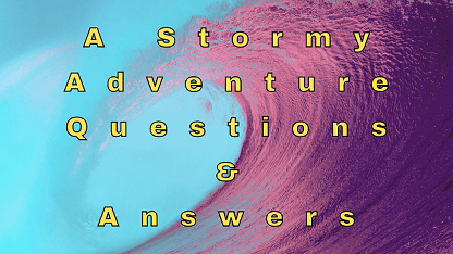 A Stormy Adventure Questions & Answers