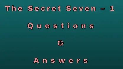The Secret Seven – 1 Questions & Answers