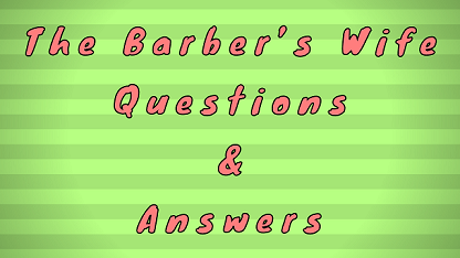 The Barber's Wife Questions & Answers