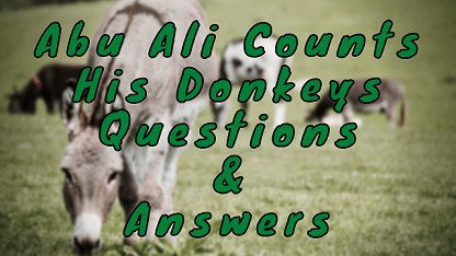 Abu Ali Counts His Donkeys Questions & Answers