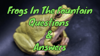 Frogs In The Fountain Questions & Answers