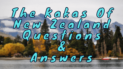 The Kakas of New Zealand Questions & Answers
