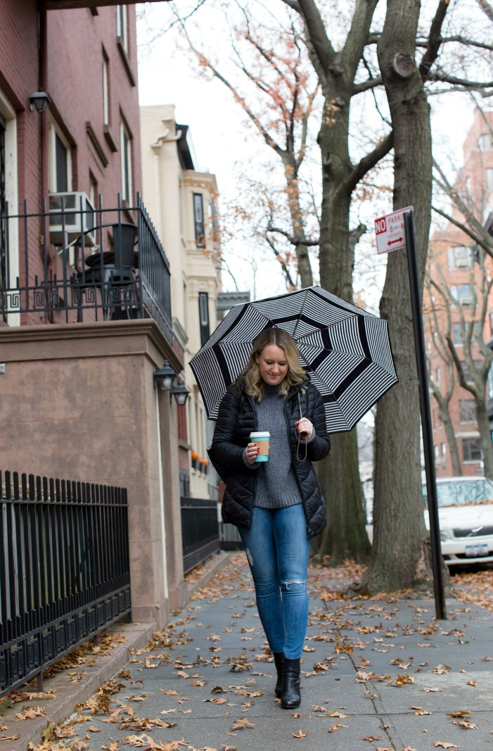 Casual Barbour outfit on Meghan Donovan of wit & whimsy
