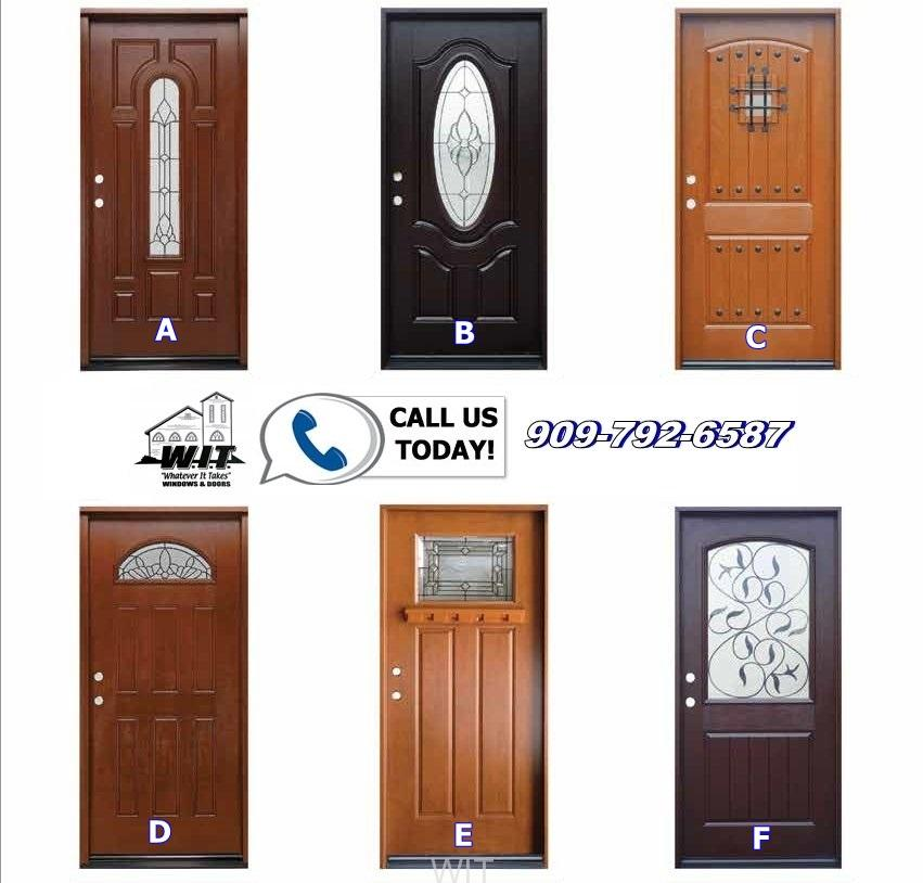 Fiberglass Doors  sc 1 st  WIT Windows and Doors & Fiberglass Front Entry Doors Redlands