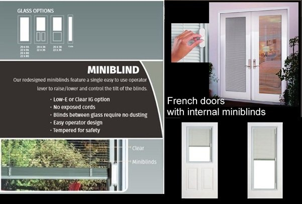 French Doors Mini Blinds