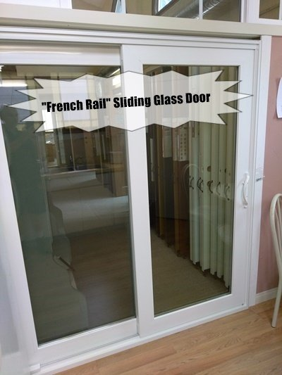 French Rail Style Sliding Glass Door