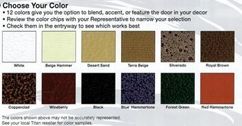 TITAN SECURITY DOOR COLORS