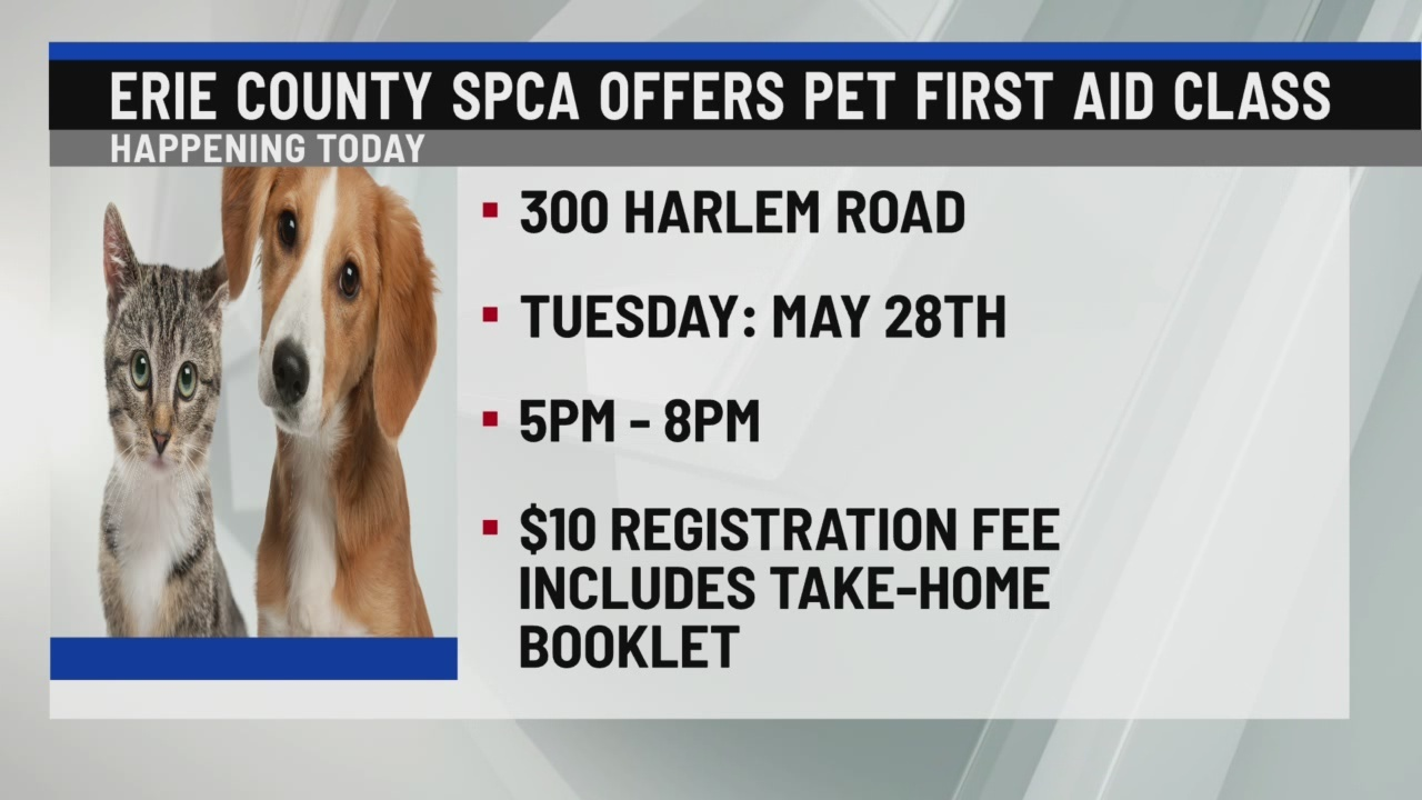 Erie County SPCA offers pet first aid class