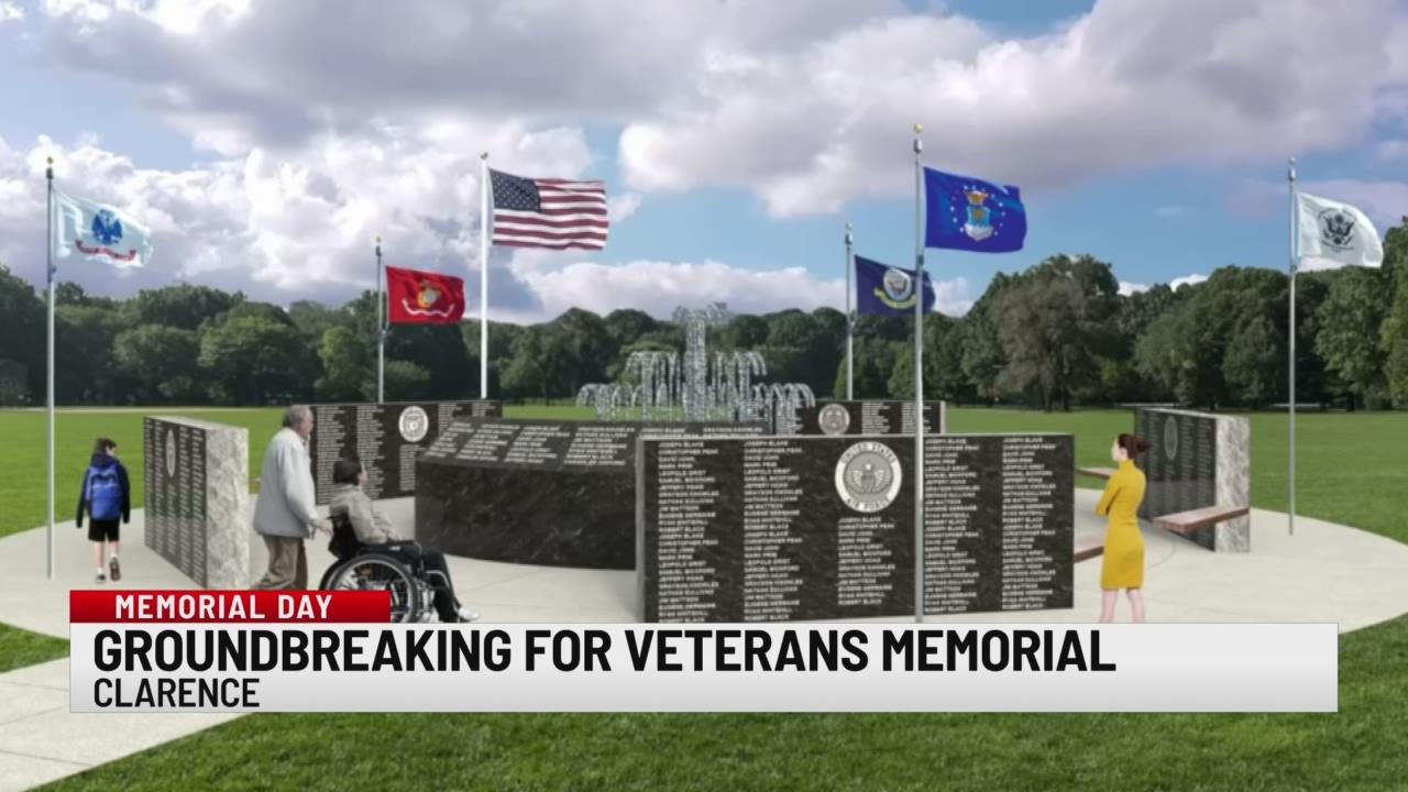 Groundbreaking of veterans memorial