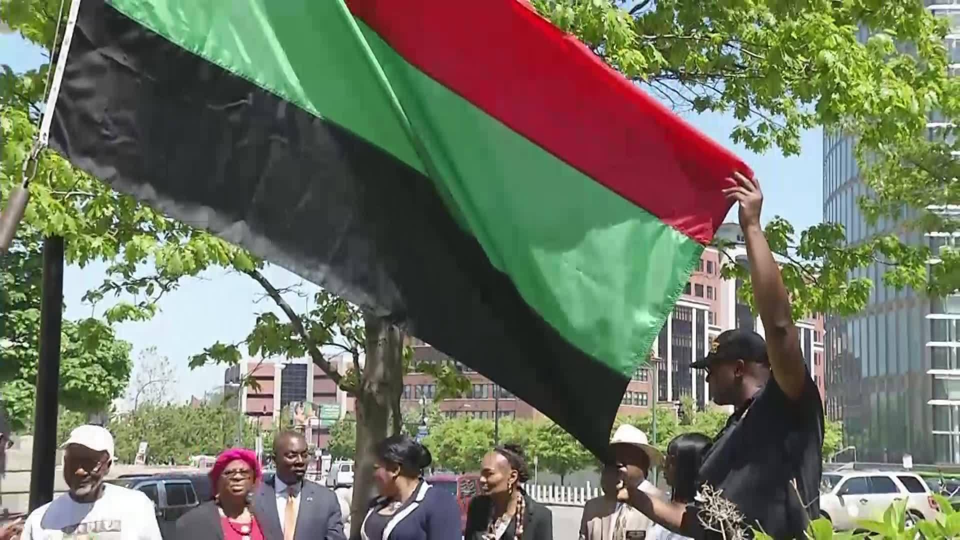 Juneteenth flag raised in Buffalo